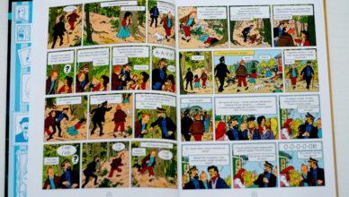 Красочный комикс о Тинтине